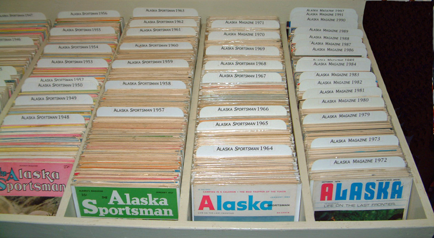 For sale: back issues of         Alaska Magazine.