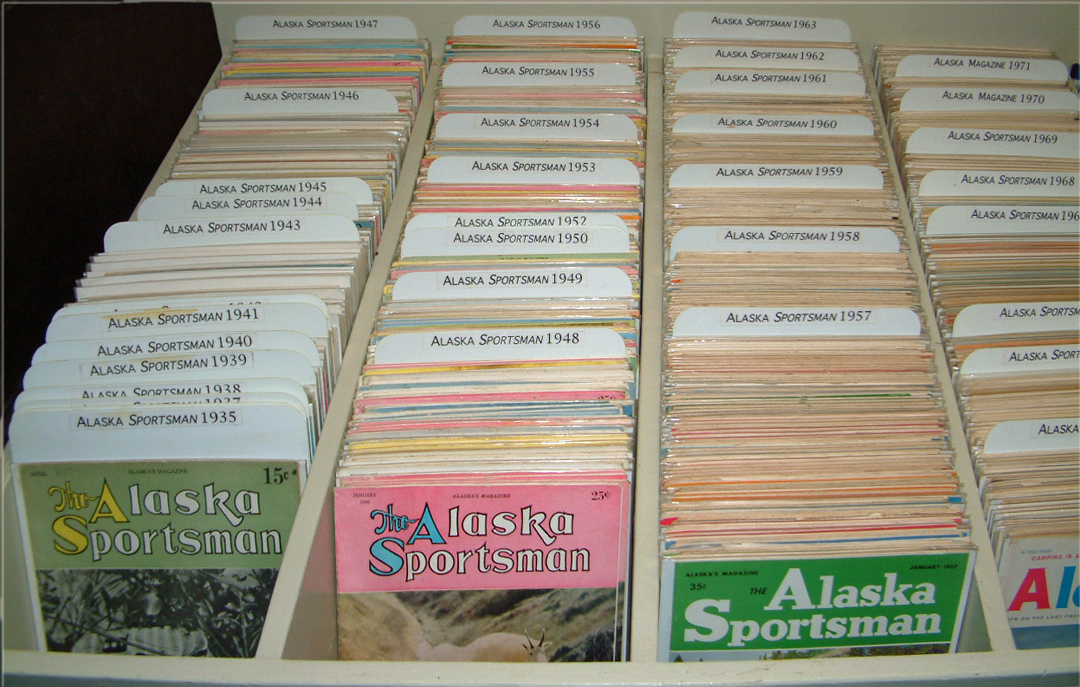For sale: back issues of         Alaska Sportsman & Alaska Magazine.