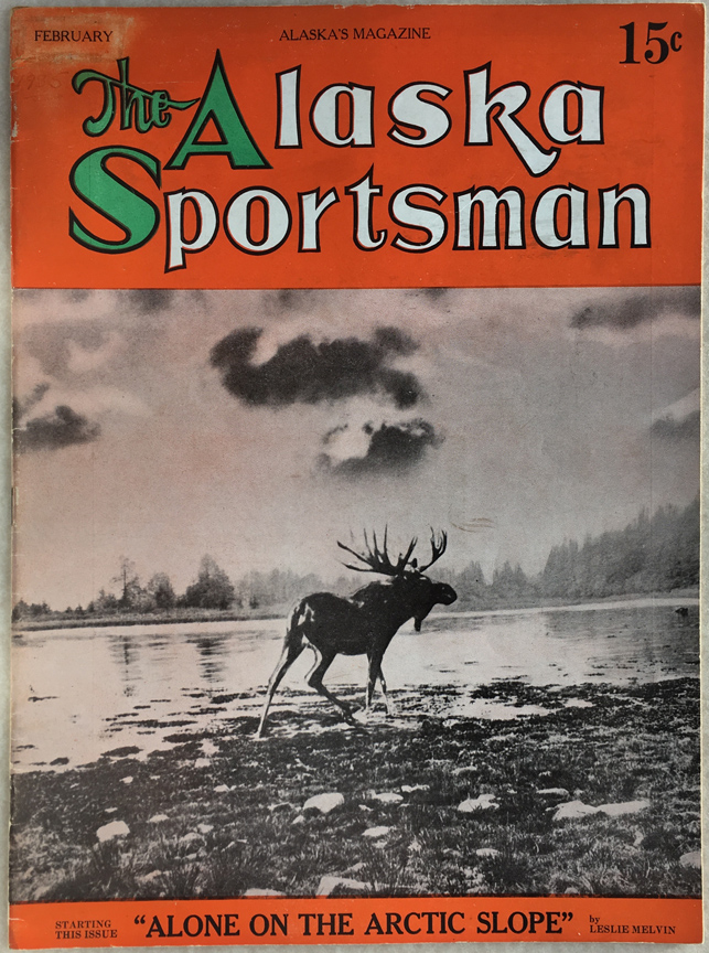 For sale: February               1935 Alaska Sportsman magazine