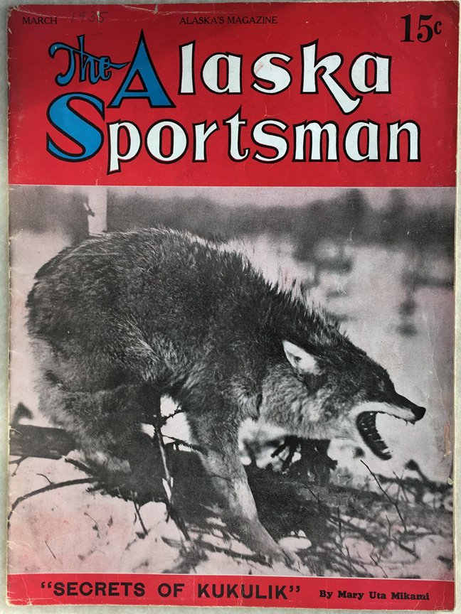For sale: March 1935               Alaska Sportsman magazine