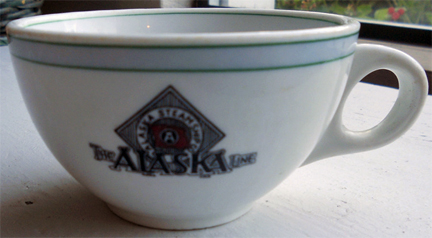 For sale: original Alaska Steamship Company coffee               cup.