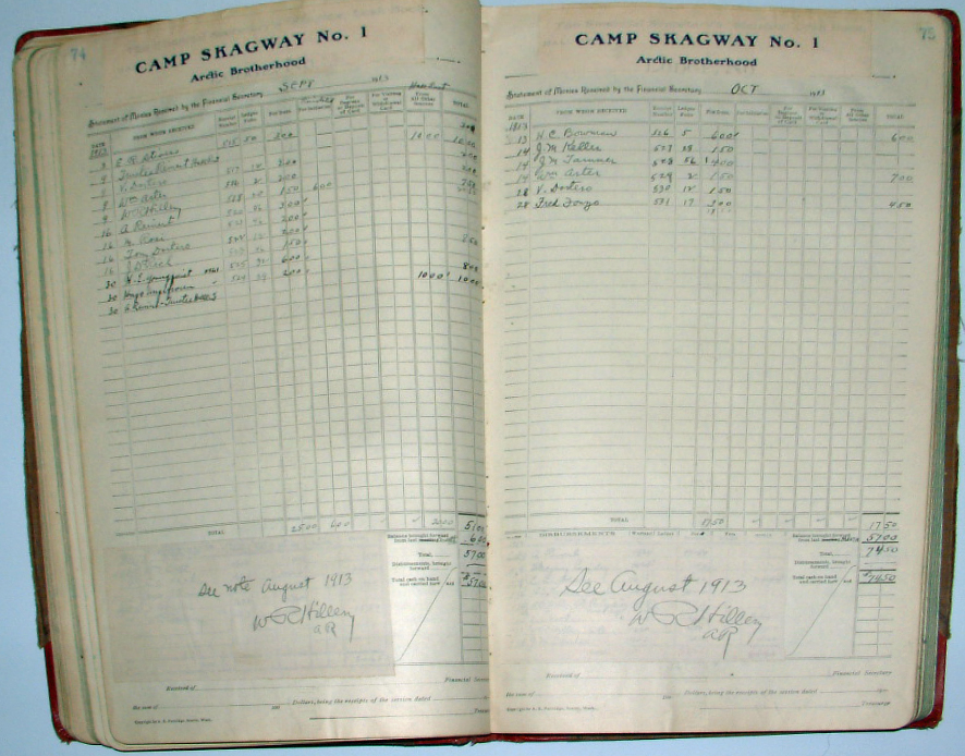 For sale: documents,               records, and ledgers, of the Arctic Brotherhood, circa               1908-1920.