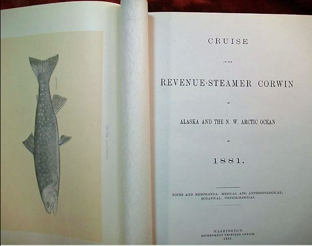 For sale: Antique book for sale: Cruise of the               Revenue Steamer Corwin in Alaska and the N.W. Arctic Ocean               in 1881
