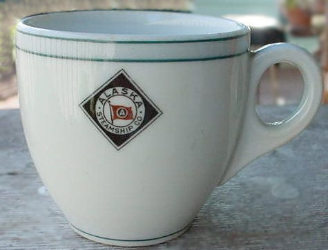 Early Alaska Steamship Company demitasse cup for               sale.