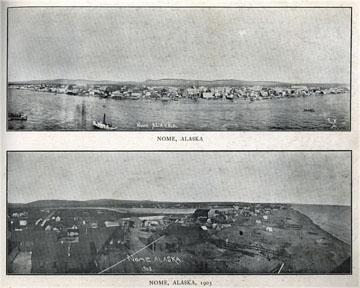 """Nome, Alaska. For sale: original view book               """"Souvenir of North Western Alaska"""" by O.D.               Goetz."""