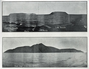"Big Diomede, Little Diomede. For sale: original view               book ""Souvenir of North Western Alaska"" by O.D.               Goetz."