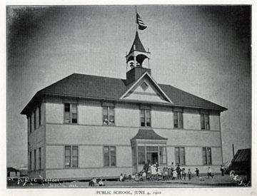"Public school, June 4, 1902. For sale: original view               book ""Souvenir of North Western Alaska"" by O.D.               Goetz."