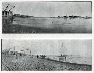 """Beach, Nome, Alaska. For sale: original view book               """"Souvenir of North Western Alaska"""" by O.D.               Goetz."""