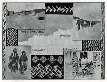 """Eskimos, Nome, Alaska. For sale: original view book               """"Souvenir of North Western Alaska"""" by O.D.               Goetz."""