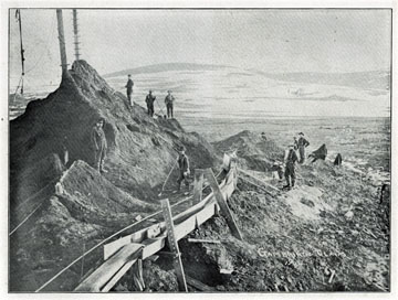 "Gambrinus claim (?), 1904. For sale: original view               book ""Souvenir of North Western Alaska"" by O.D.               Goetz."