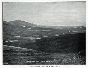 """Looking down Ophir from the divide. For sale:               original view book """"Souvenir of North Western               Alaska"""" by O.D. Goetz."""