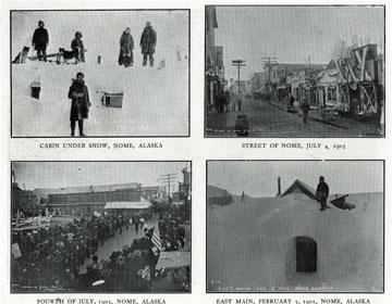 "Nome scenes. For sale: original view book               ""Souvenir of North Western Alaska"" by O.D.               Goetz."