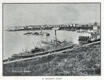 "St. Michaels, Alaska. For sale: original view book               ""Souvenir of North Western Alaska"" by O.D.               Goetz."