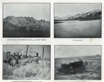 """Pumping water from ice flow. For sale: original view               book """"Souvenir of North Western Alaska"""" by O.D.               Goetz."""