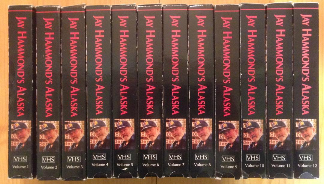 For sale: Jay Hammond's Alaska: 12         video tapes from this interesting Alaska TV series.