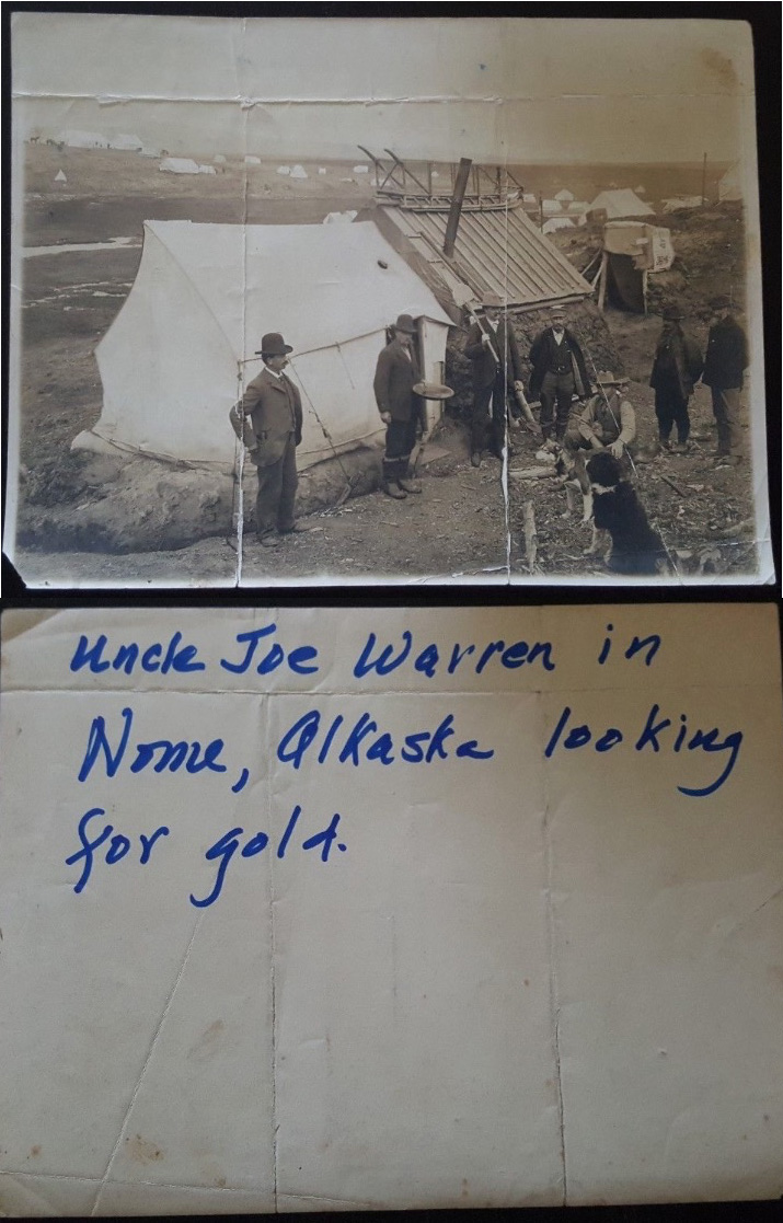 For sale: very early               Alaska police badge and archive Joe Warren.