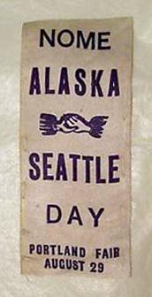 For sale: Lewis and Clark Centennial Exposition               ribbon Nome Alaska.