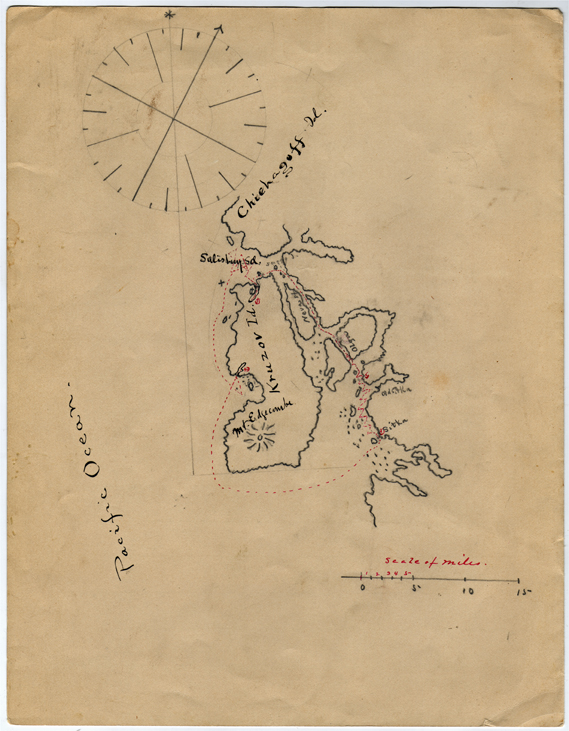 For sale: original manuscript map from the USS                 Pinta.