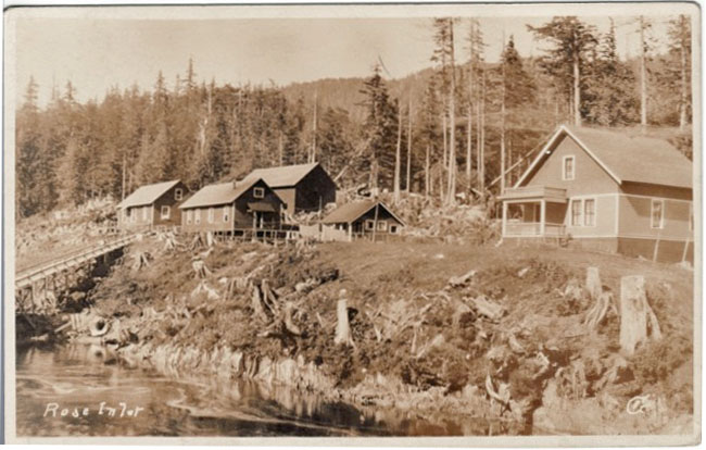 Real photo postcard of Rose Inlet, Alaska, for sale