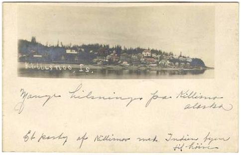 For sale: Original,               rare, Vincent Sololeff Killisnoo Alaska postcard.