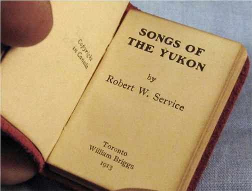 For sale: very rare Robert Service book: Songs of                 the Yukon.