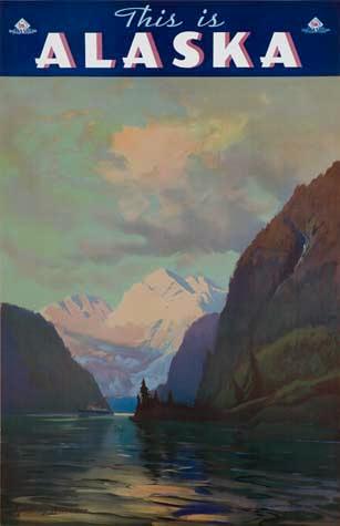For sale: Original Sydney Laurence travel poster for               the Alaska Steamship Company