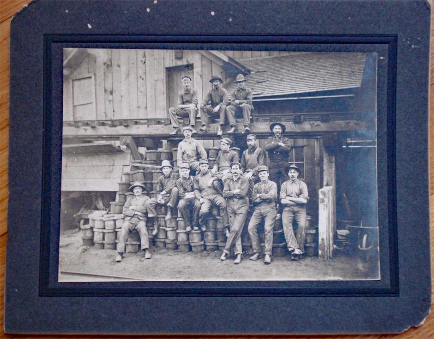 For sale: original 1909                 Photograph of Foundry workers occupational railroad                 Douglas Alaska.