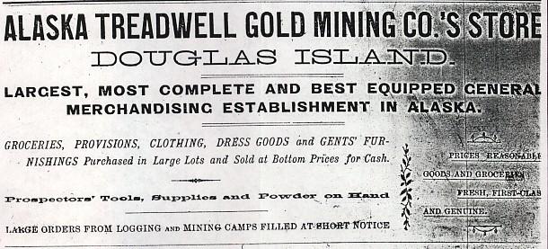 For sale: Alaska Treadwell Gold Mine Company store                 ledgers.