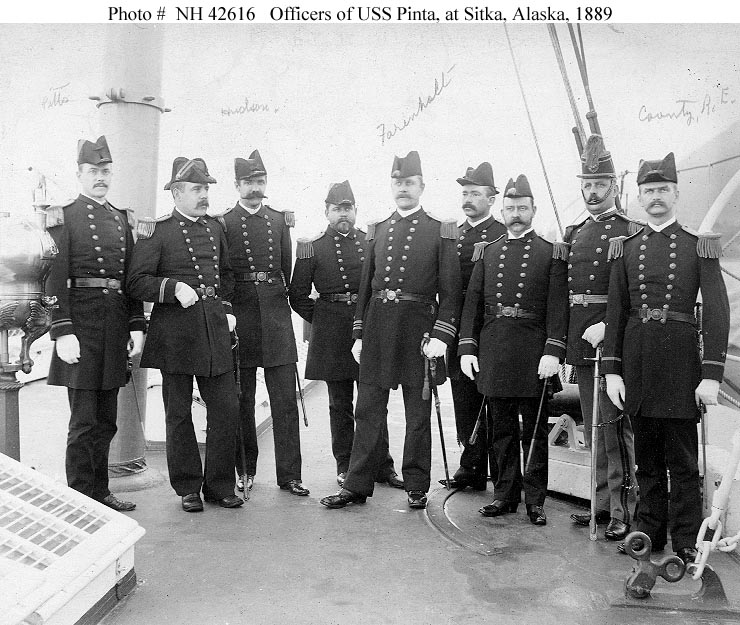 The USS Pinta officers who collected the hinges.